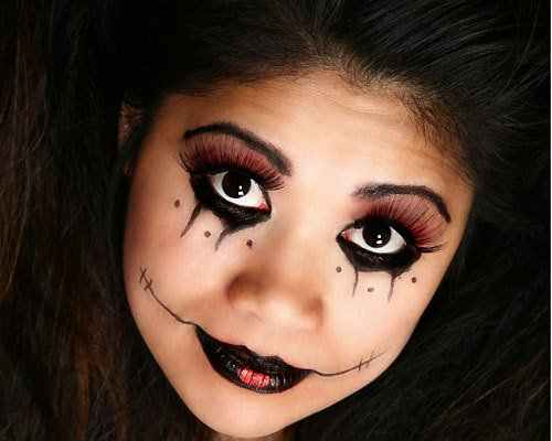 75+ Cute and Scary Halloween Makeup Ideas For kids. Easy face .