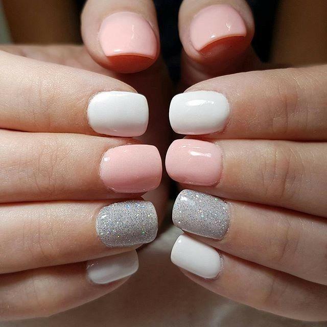 Pretty summer nails | Stylish nails, Dipped nails, Cute acrylic nai