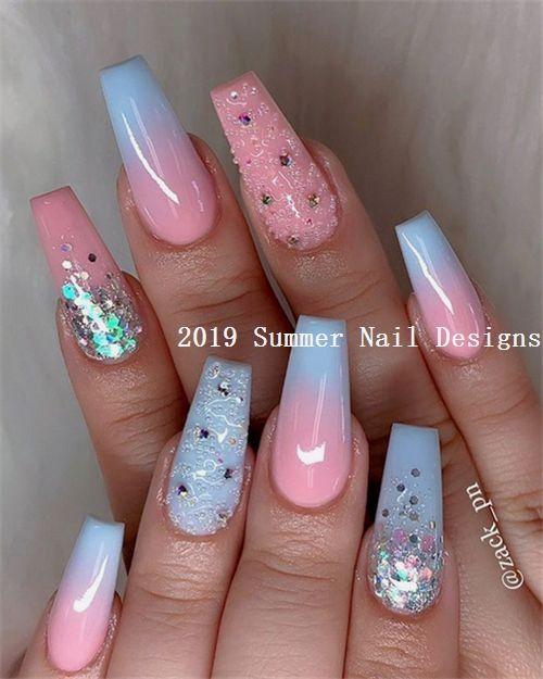 33 Cute Summer Nail Design Ideas 2019 #summernaildesigns #nail .