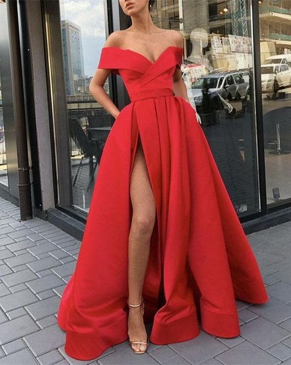 40+ Glam Red Prom Night Dresses Ideas | Red prom dress long, Red .