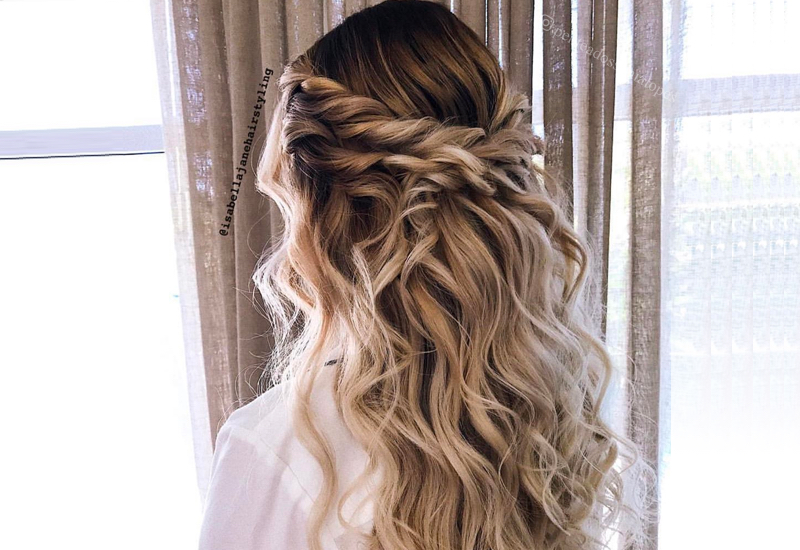 27 Prettiest Half Up Half Down Prom Hairstyles for 20