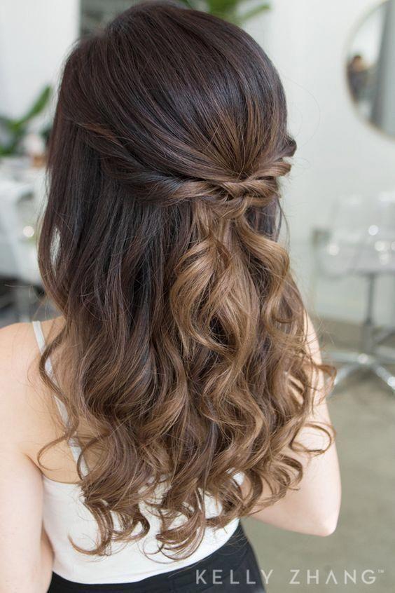 Simple DIY prom hairstyles for medium hair #diy #hair #hairstyle .