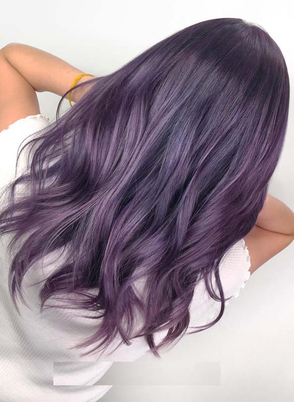 Modern Looking Purple Hair Color Ideas and Trends for 2019 .
