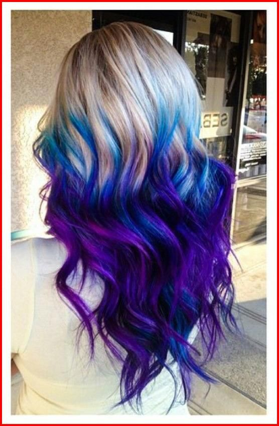 Blue Purple Hair Color Ideas, Mixing some colors always work when .