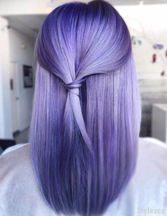 Trendy Purple Hair Color Ideas & Styles for 2019 | Stylez