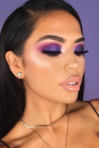 Lipstick | Purple smokey eye makeup, Purple makeup, Purple eye make