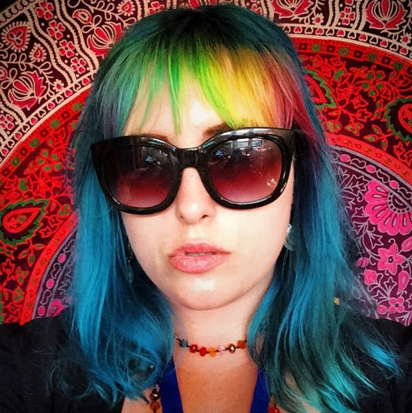 Rainbow Bangs Hair Colour Trend | POPSUGAR Beauty UK Photo