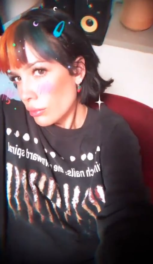 Halsey Tries Rainbow Bangs August 2019 | POPSUGAR Beau