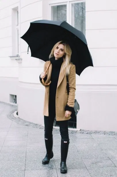 Rainy Day Cold Weather Outfit (16) • DressFitMe in 2020 | Cold .