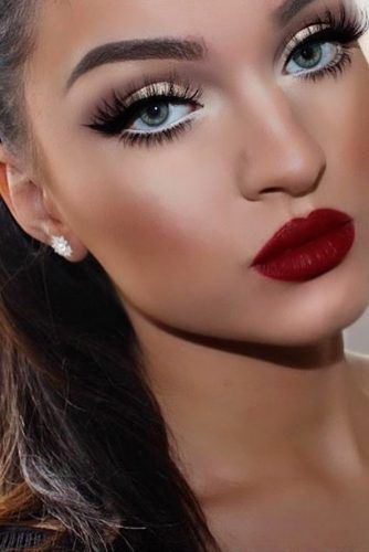 Dark Red Lipstick Makeup Ideas picture 3 | Red lipstick makeup .