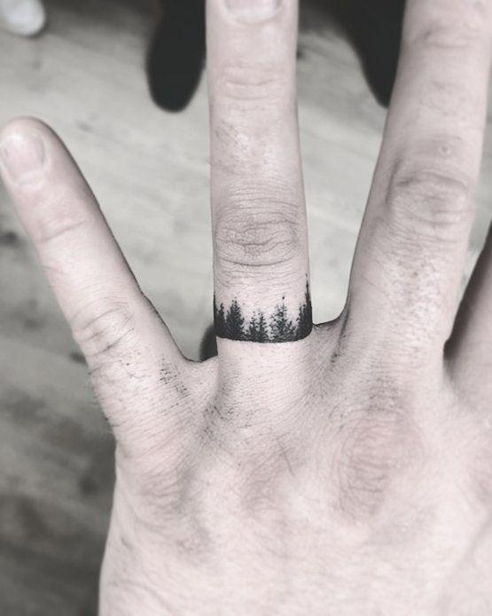 60 Romantic Ring Finger Tattoo Ideas | Ring finger tattoos, Band .