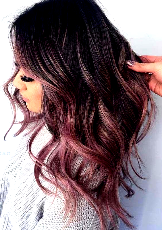Obsessed Rose Gold Hair Colors & Highlights for Women in 2018 .