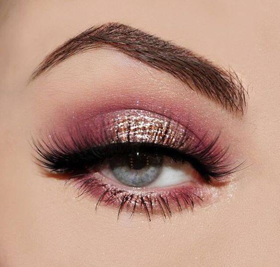 rose gold eye makeup, natural makeup, wedding makeup looks, rose .
