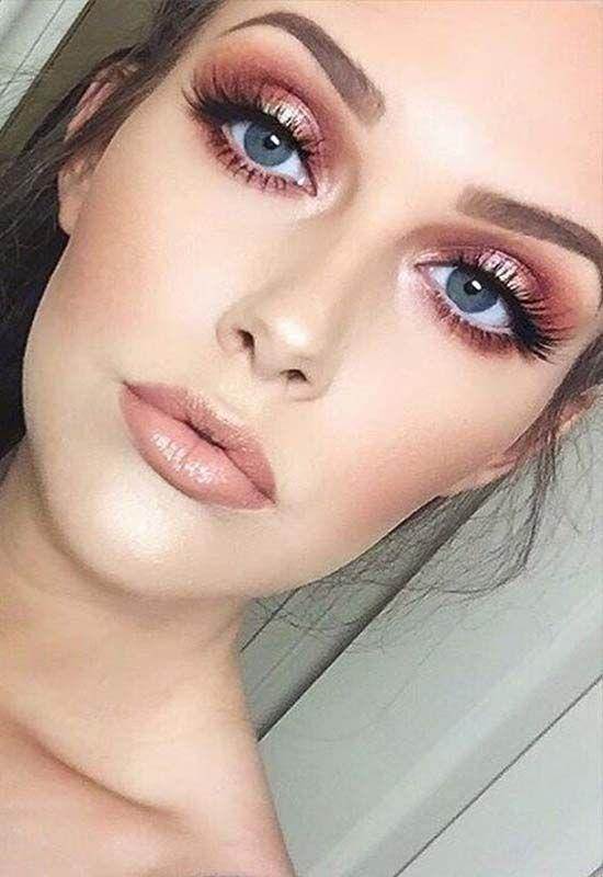 24 Top Rose Gold Makeup Ideas To Look Like A Goddess | Modren .
