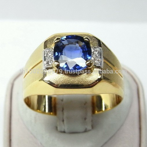 Blue Sapphire And Diamond Ring Smart Design - Buy Mens Blue Star .