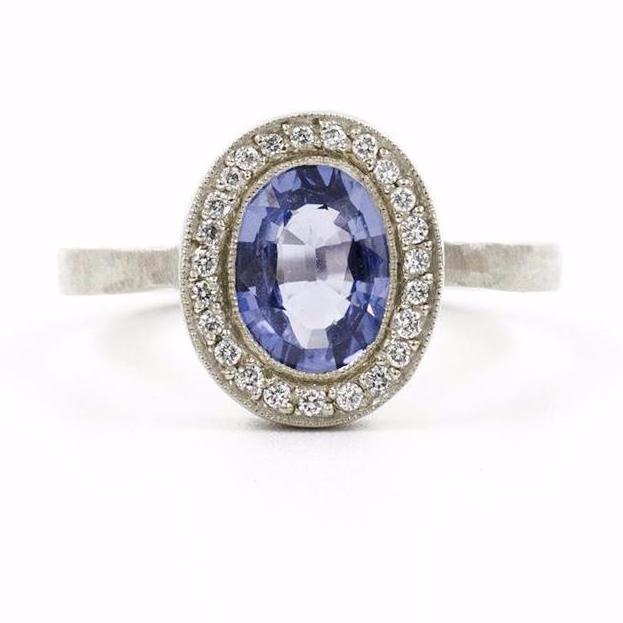 Lux Plus Oval Blue Sapphire Ring - Jennifer Dawes Desi