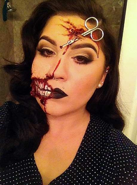 21 Scary Halloween Makeup Ideas | StayGlam | Creepy halloween .