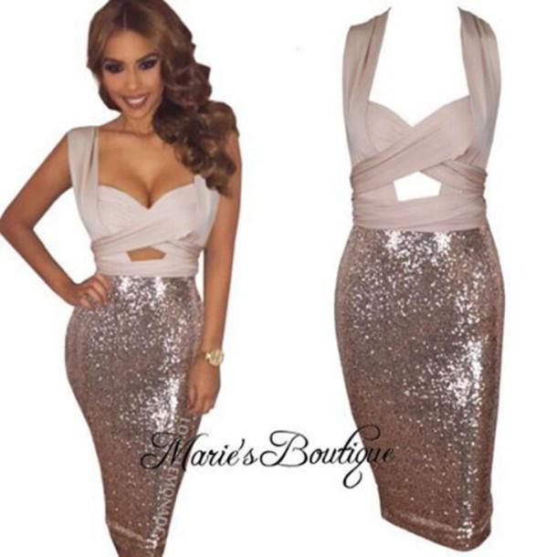 dress, maries boutique, glitter dress, sequin dress, gold dress .
