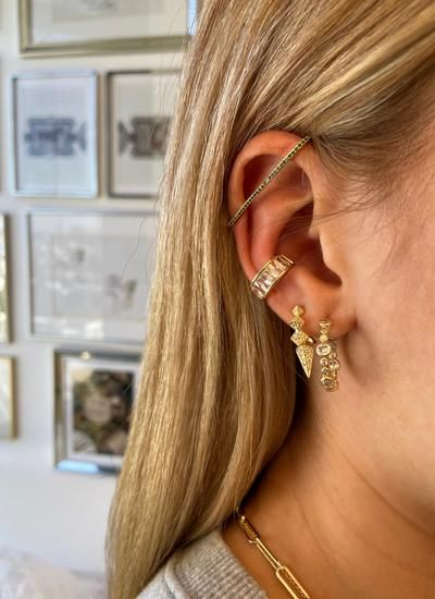 Pave Earbar Earring in 2020 | Ear cuff, Melinda maria jewelry .