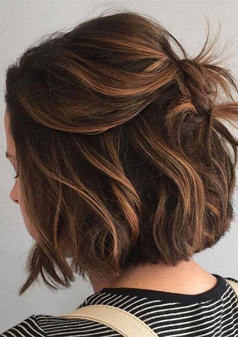 20 Gorgeous Dark Brown Hair with Highlights Ideas | Thin fine hair .