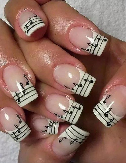 Nail art designs easy simple cute 00027 — gcan.net | Music nails .