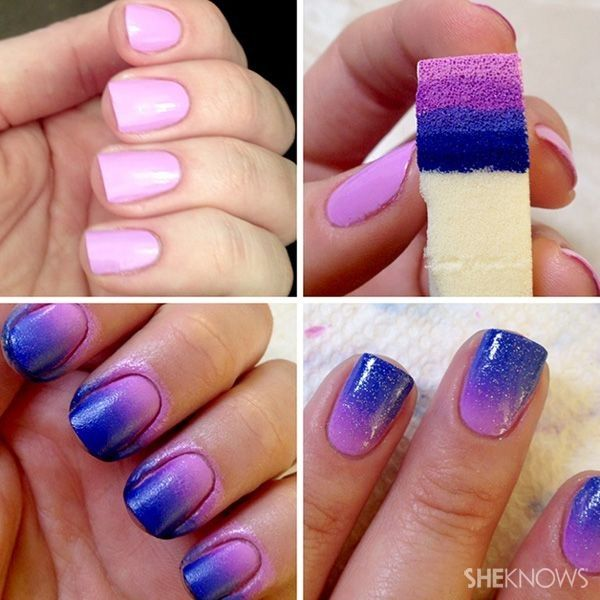 101 Easy Nail Art Ideas and Designs for Beginners | Ombre nails .