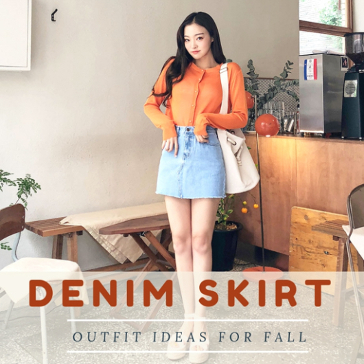 5 Casual Yet Feminine Fall Denim Skirt Outfit Ideas - CodiP