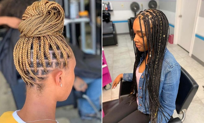 43 Pretty Small Box Braids Hairstyles to Try | StayGl
