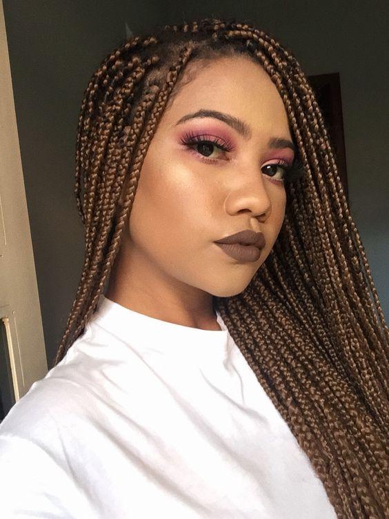 40 Small Box Braids Hairstyles | Small box braids hairstyles .
