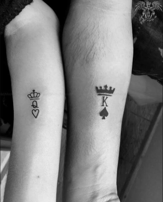 Couple Tattoos | Small couple tattoos, Cute couple tattoos .