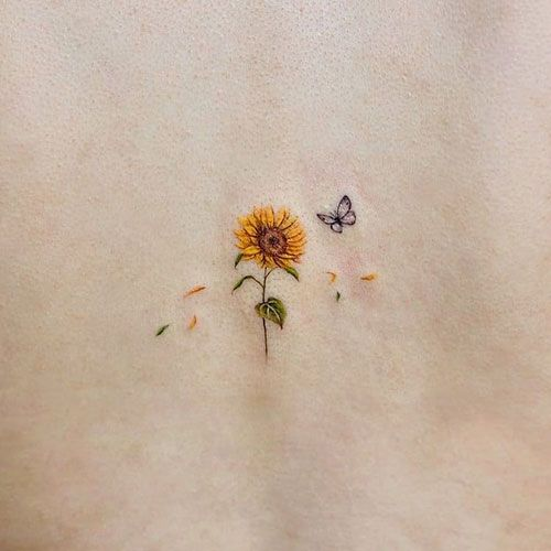 101 Best Sunflower Tattoo Ideas & Designs (2020 Guide) in 2020 .