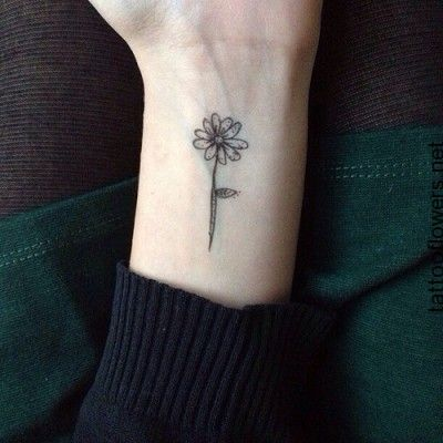 animtest | Flower wrist tattoos, Sunflower tattoo on wrist .