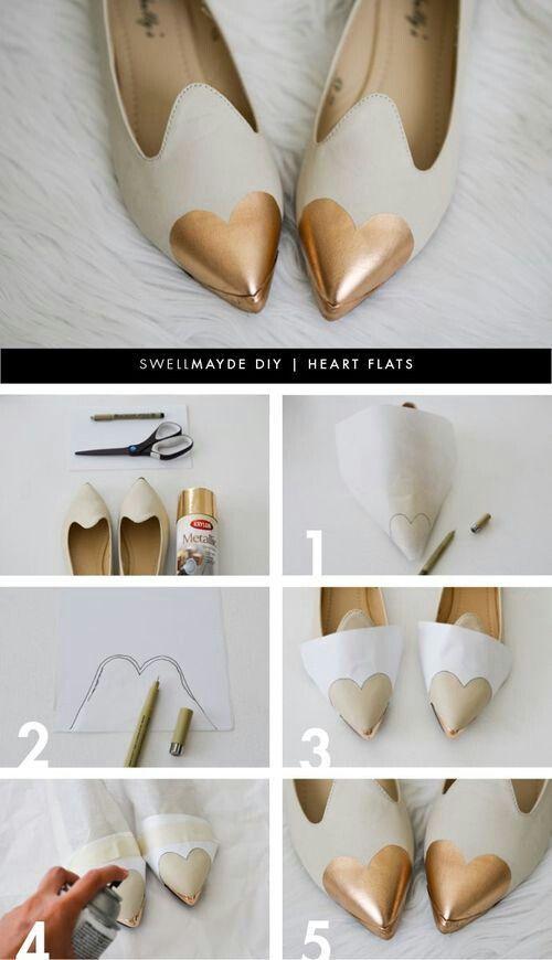 DIY Projects: Pretty Flats for the Season - Pretty Designs   Shoe .