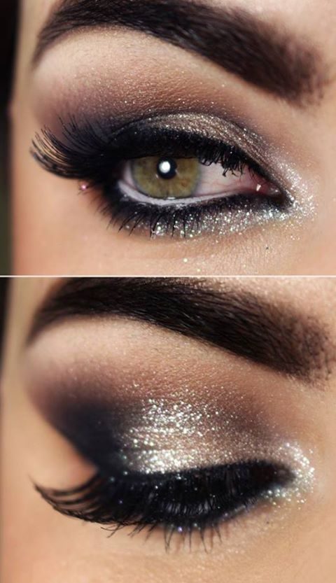 40+ Stunning Shimmery Smokey Eye Makeup DIY Tutorials - www .