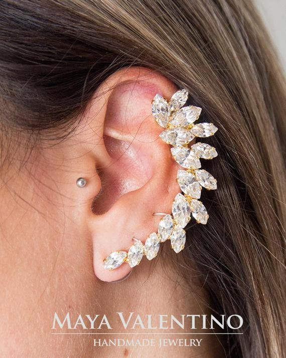 Blue Earrings Royal Blue Earrings Blue Ear Cuff earrings | Etsy .