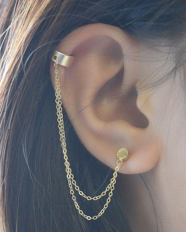 This Week's Gems | Earring cuff chain, Cuff earrings, Ear jewel