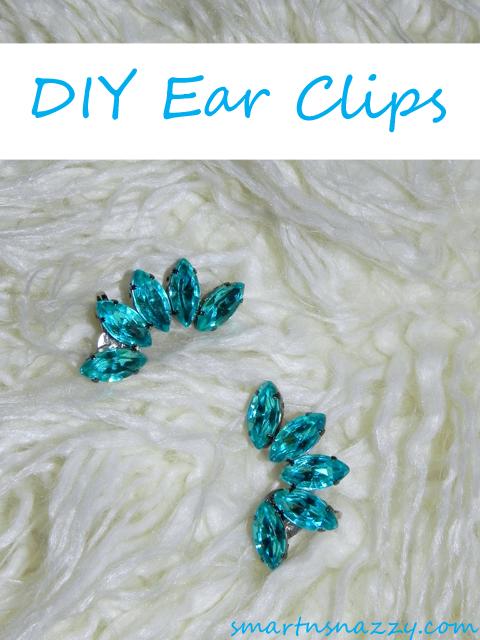 Smart n Snazzy: DIY ~ Rhinestone Ear Cuffs | Ear cuff diy .