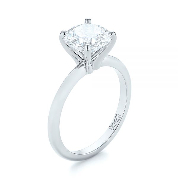 Custom Solitaire Diamond Engagement Ring #103636 - Seattle .