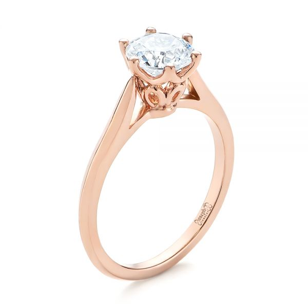 Solitaire Diamond Engagement Ring #104173 - Seattle Bellevue .