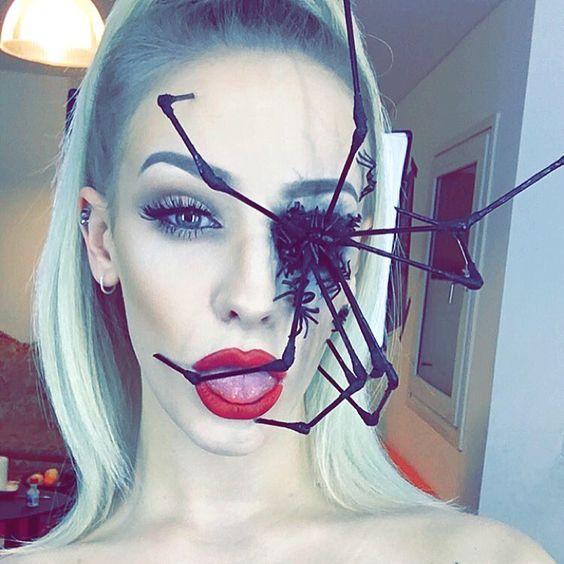 20+ Amazing Look Spider Halloween Makeup Ide