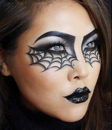 Spider Web makeup Halloween inspiration | Halloween eye makeup .