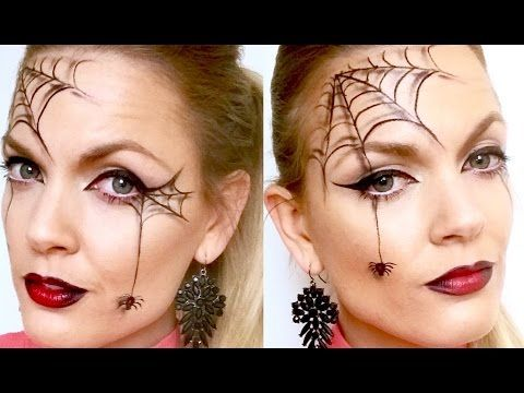 Quick and easy spider web halloween makeup - YouTube … | Halloween .