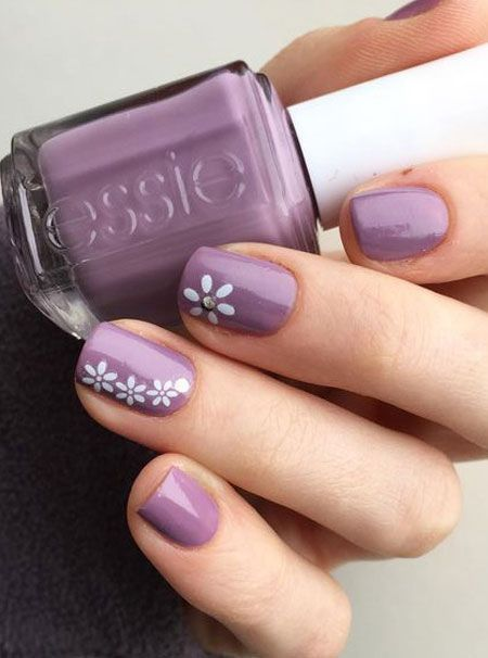 22+ Spring Nails and Colors For 2020 | | Cute spring nails, Floral .
