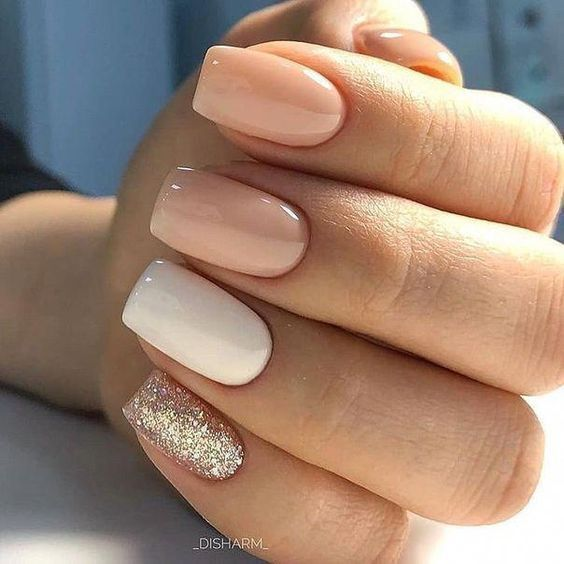 Simple bridal nail art design ideas for 2020 in 2020 | Square .