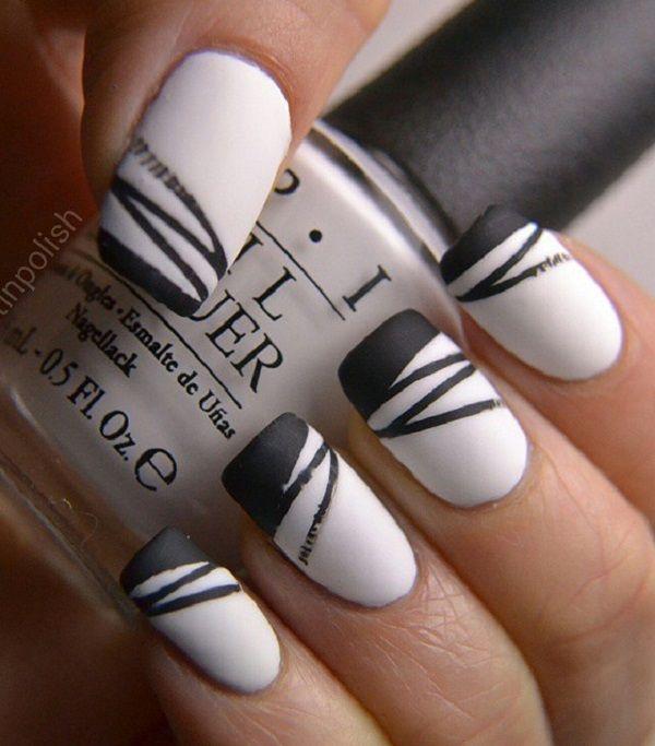 55 Stripes Nail Art Ideas | Cuded | Striped nails, Nail art .