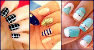 20 Coolest Striped Striped Nail Art Designs And Ide