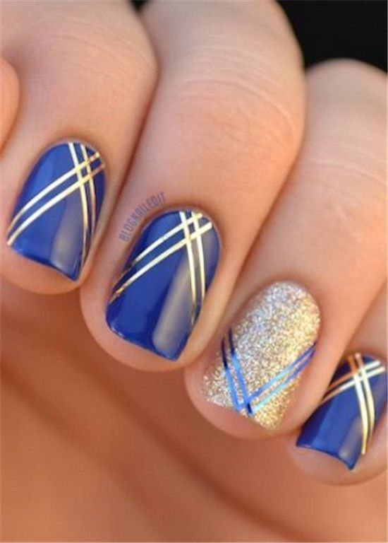 cool 30 Striped Nail Art Designs to Copy Now by http://www .