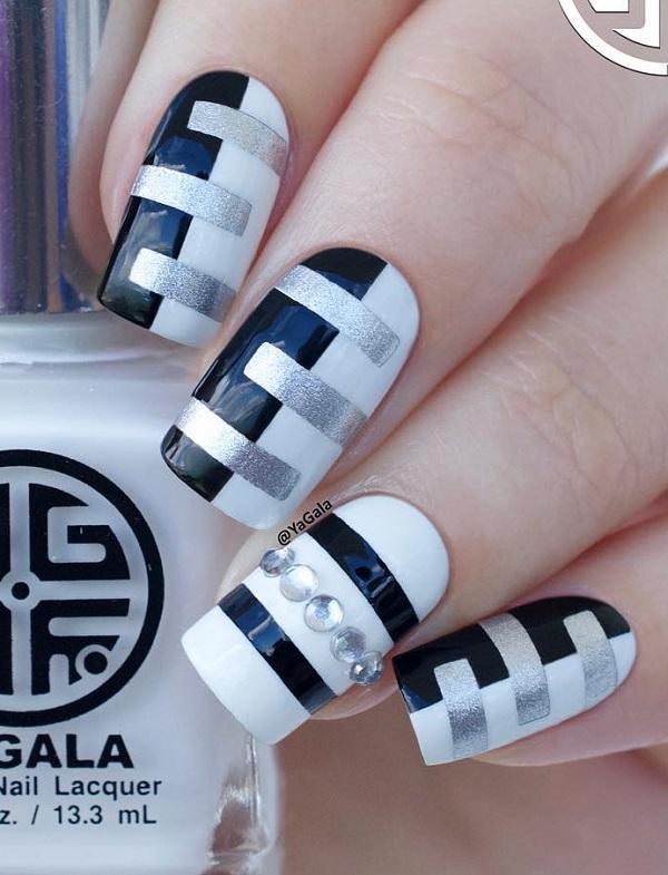 55 Stripes Nail Art Ideas | Cud