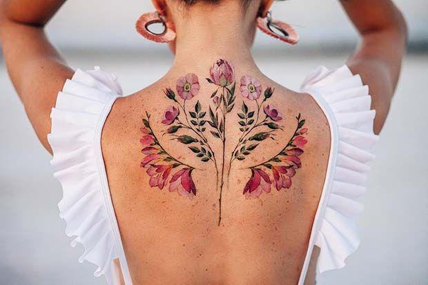 43 Beautiful Flower Tattoos for Women | Beautiful flower tattoos .