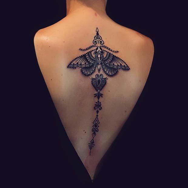 23 Cool Back Tattoos for Women | Back tattoo women, Girl back .